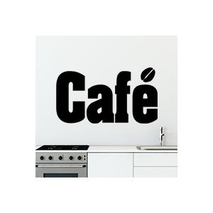 stickers Café lettrage