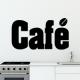 autocollant Café lettrage 2212