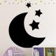 autocollant Lune et étoiles 2226