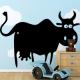 autocollant Vache rigolote 2233