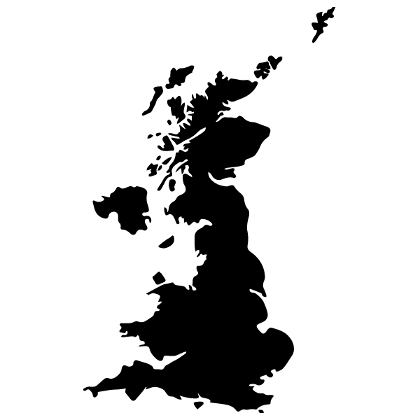 Carte Royaume Uni Noir Et Blanc.Carte Royaume Uni Stickad