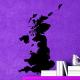 autocollant Carte Royaume-Uni 2271