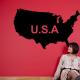 autocollant Carte USA 2276