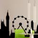 autocollant Londres roue 2277