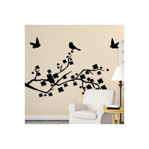 stickers Branches avec des oiseaux