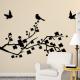 autocollant Branches avec des oiseaux 2341