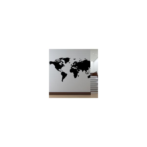carte du monde stickad. Black Bedroom Furniture Sets. Home Design Ideas