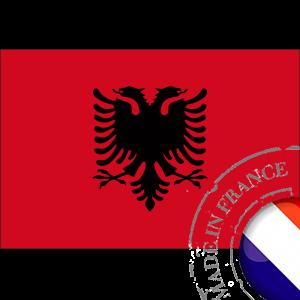stickers Autocollant Drapeau Albanie