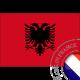 autocollant Autocollant Drapeau Albanie 3134