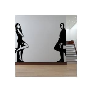stickers Sticker Autocollant Mr et Mrs Smith
